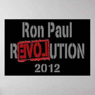 Poster 2012 de la revolución de Ron Paul