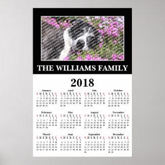 Póster 2018 su poster de encargo del calendario de la