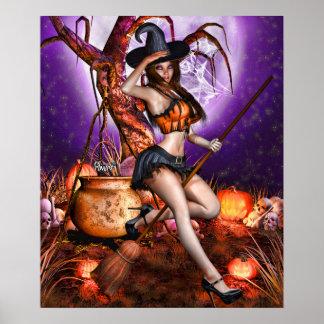 "Póster 24"" x 20"" ~Pumpkin Princess~ de Kris E. Pew"