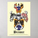 Poster 24x36 del escudo de la familia de Brenner