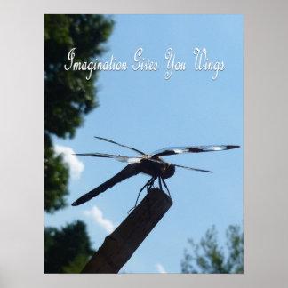 Poster 2 de la libélula de la imaginación