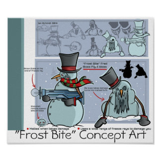 """""""Poster 2 de la mordedura de Frost de los horizont"""