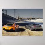 Póster 2 Nissan GT-R R35 en Los Ángeles céntrico