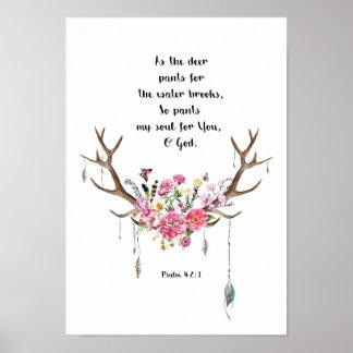 Póster 42:1 del salmo