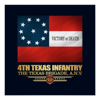 Póster 4to Infantería de Tejas