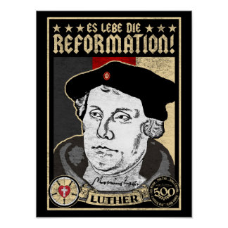 Póster 500o Reforma Luther del aniversario Poster-Alemán