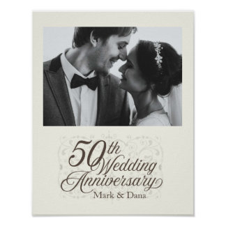 Póster 50.o Muestra del aniversario de boda