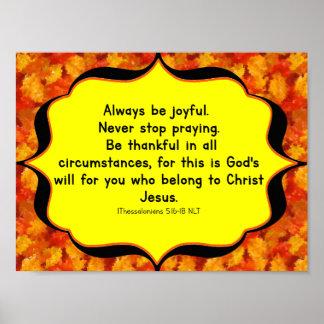 Póster 5:16 de los thess del poster 1 de la biblia de la