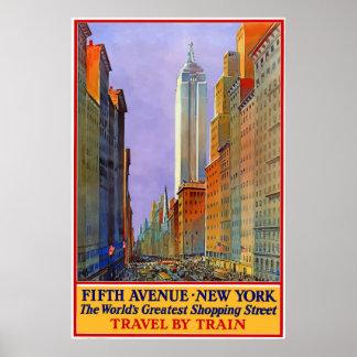 Póster 5to poster del viaje de New York City de la