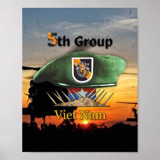 Póster 5to Veteranos LRRP del grupo SFG SF de las fuerzas