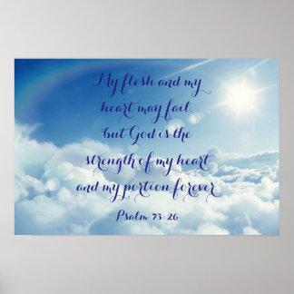 Póster 73:26 del salmo