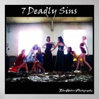 Póster 7 pecados mortales