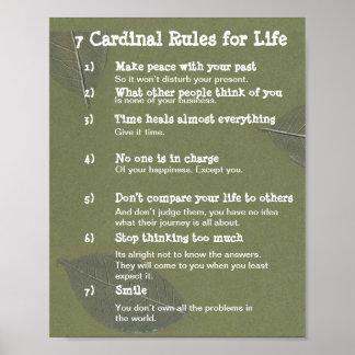 Póster 7 reglas cardinales para la VIDA