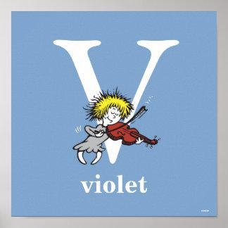 Póster ABC del Dr. Seuss: Letra V - El blanco el | añade