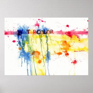 poster abstracto de la acuarela póster