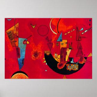 Poster abstracto de la pintura de Gegen del und Póster