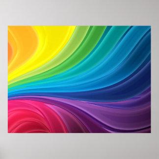 Poster abstracto del arco iris