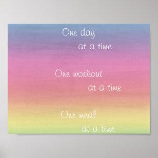 Póster Acuarela del arco iris un poster del día a la vez
