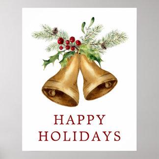 Póster Acuarela del navidad el | - muérdago y Belces del