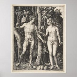 Póster Adán y Eva, 1504