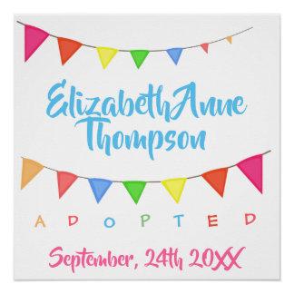 Póster Adopción adoptada de las banderas - fecha conocida
