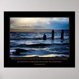 Póster Adversidad - 2 4:8 de los Corinthians - 9