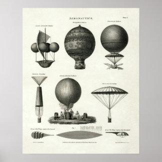 Póster Aeronáutica 1818 del vintage