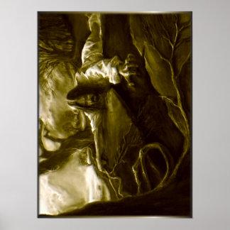 Póster Agonía del Jesucristo en el jardín de Gethsemane