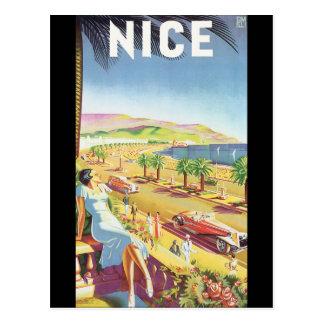 Poster agradable del viaje del vintage postal