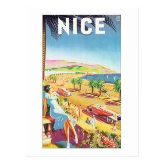 Poster agradable del viaje del vintage tarjetas postales