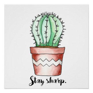 Poster agudo del cactus de la estancia