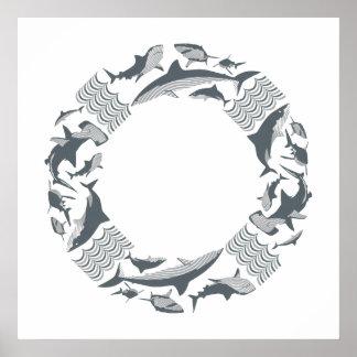 Póster Ahorre la salvación de los tiburones