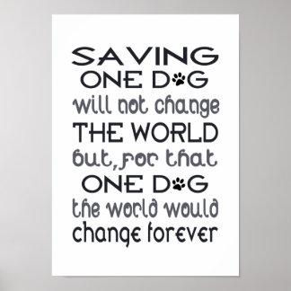 Póster Ahorro de un poster del perro