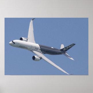 Póster Airbus A350 en vuelo