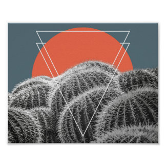 Poster al sudoeste abstracto de los cactus de póster