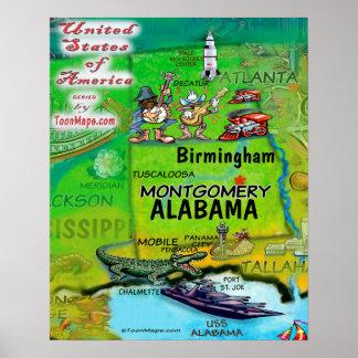 Póster Alabama los E.E.U.U.