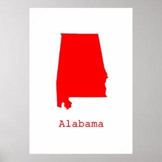Póster Alabama mínima Estados Unidos