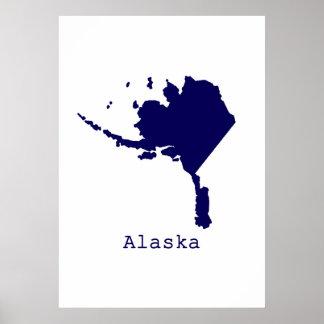 Póster Alaska mínima Estados Unidos