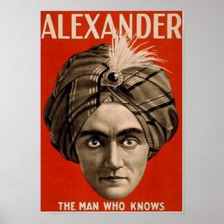 Póster Alexander el hombre que sabe