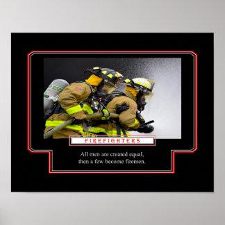 Póster Algunos hacen bomberos
