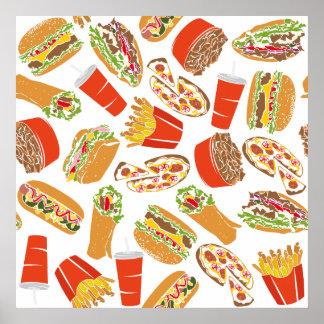 Póster Alimentos de preparación rápida del ilustracion