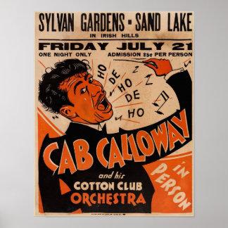 Póster Alquileres 1933 del poster del concierto de Cab