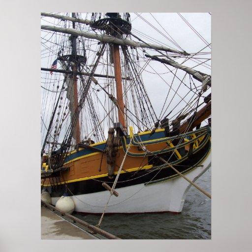 Poster alto de la nave de señora Washington