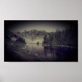 Póster Altos lagos