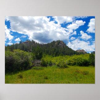 Póster Alza de la montaña rocosa