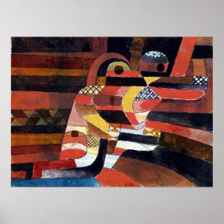 Póster Amantes de Paul Klee