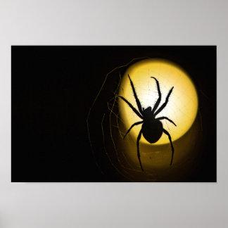 Poster amarillo de la bella arte de la araña el  