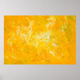 Póster Poster amarillo del arte abstracto