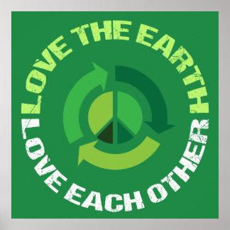 Póster Ame el amor de la tierra