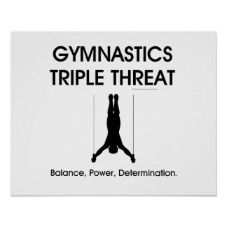 Póster Amenaza SUPERIOR del triple de la gimnasia (hombre
